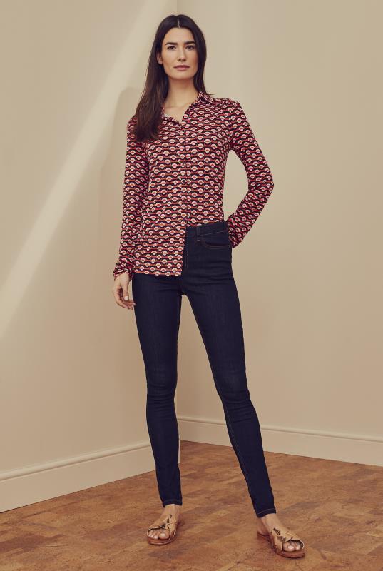Geometric Printed Jersey Shirt