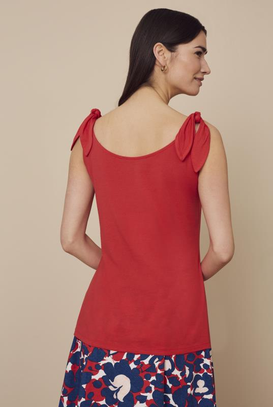 Red Tie Shoulder Vest Top