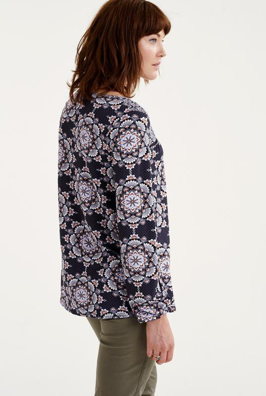 Floral Ceramic Print Smock Top