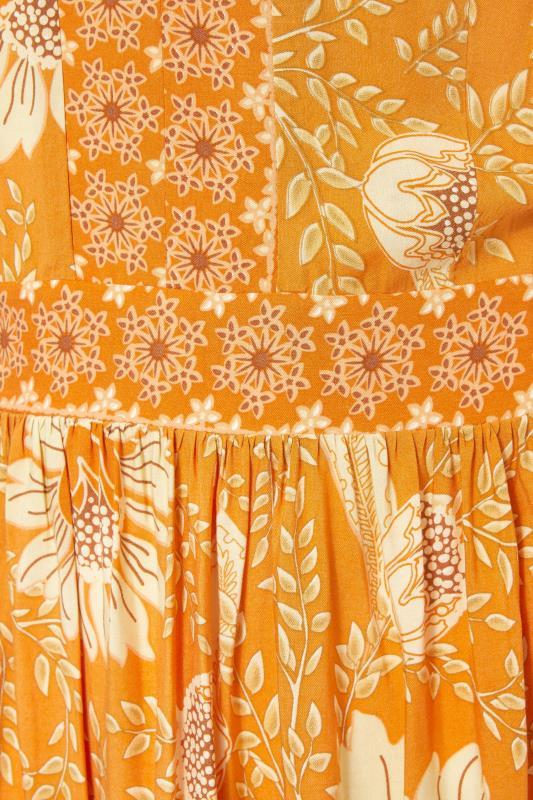 LTS Orange Floral Tiered Boho Maxi Dress_S.jpg