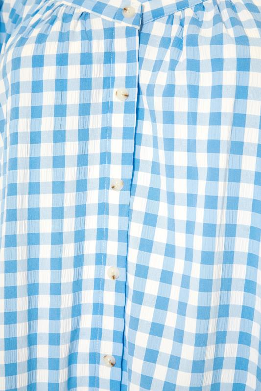 THE LIMITED EDIT Blue Gingham Puff Sleeve Tunic_S.jpg
