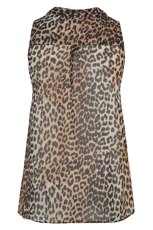 Leopard Print Frill Front Sleeveless Shirt_BK.jpg