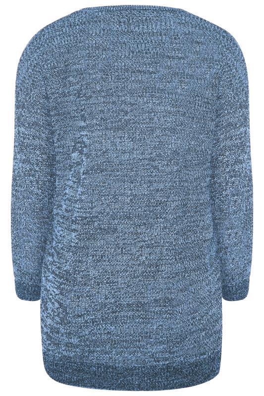Blue Marl Chunky Knitted Jumper_BK.jpg