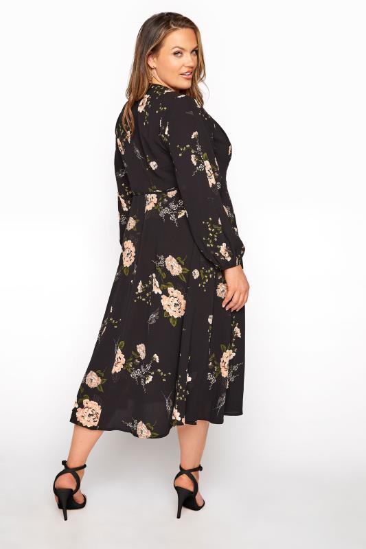 YOURS LONDON Black Floral Print Midi Dress_C.jpg
