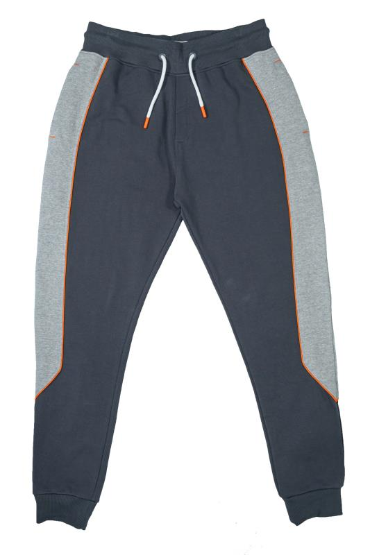 Plus Size  STUDIO A Grey Colour Block Joggers