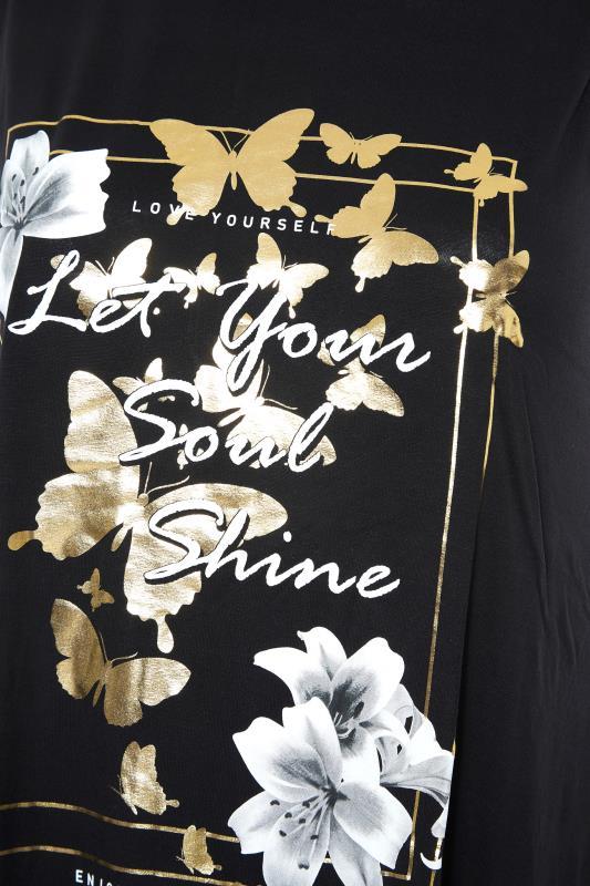 Black 'Let Your Soul Shine' Slogan Vest Top_S.jpg