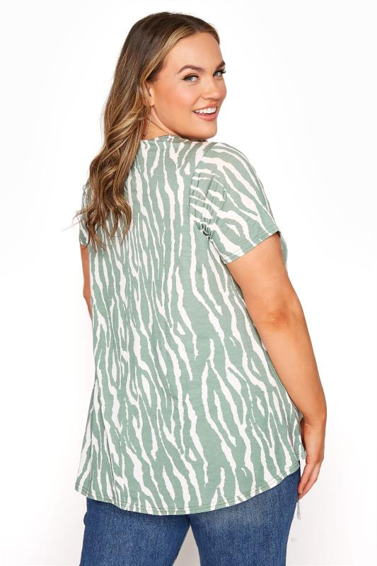 LIMITED COLLECTION Sage Green Zebra Print Swing Top_C.jpg