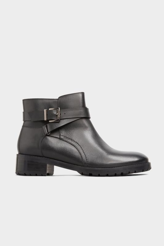 Black Leather Buckle Ankle Boots In Extra Wide Fit_A1.jpg