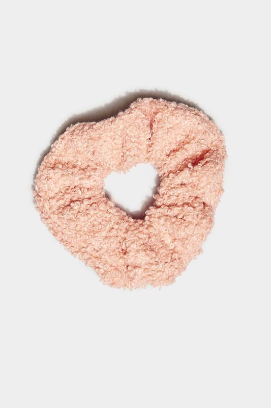 Pink Teddy Scrunchie