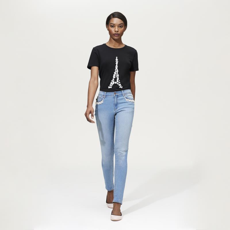 Tall Jeans Karl Lagerfeld Paris Pearl Trim Jean