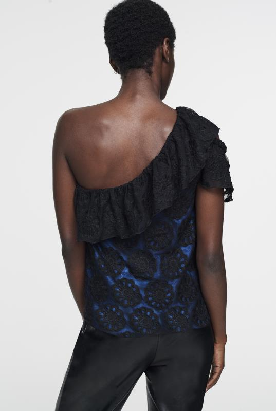 CURATD. x LTS One Shoulder Lace Top