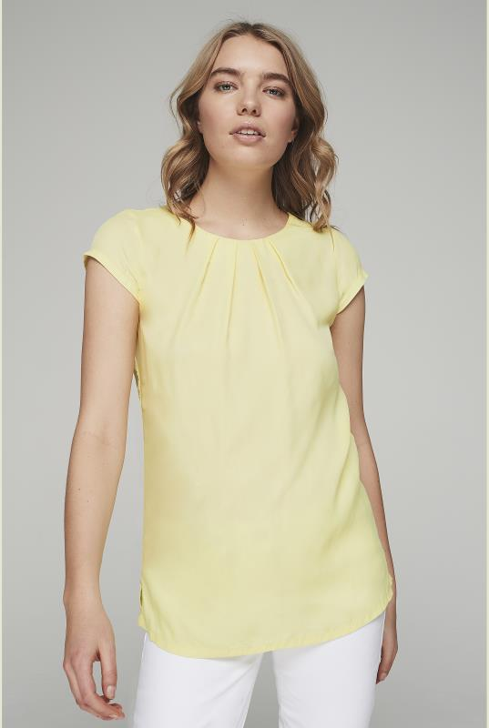 Yellow Silky Short Sleeve Top_1.jpg