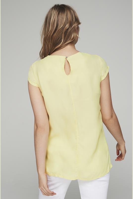 Yellow Silky Short Sleeve Top_3.jpg