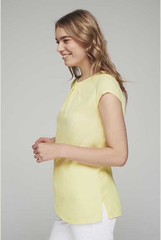 Yellow Silky Short Sleeve Top_4.jpg