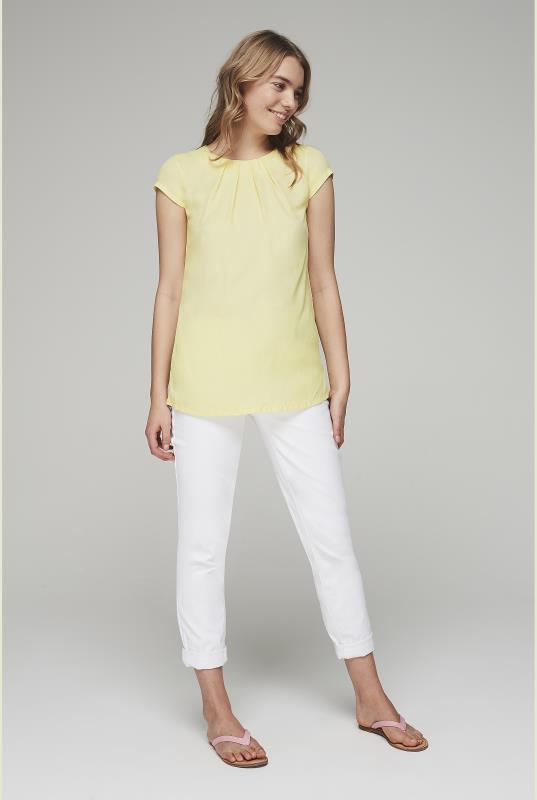 Yellow Silky Short Sleeve Top_5.jpg