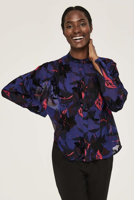 Y.A.S TALL Purple Floral Mayllis Shirt