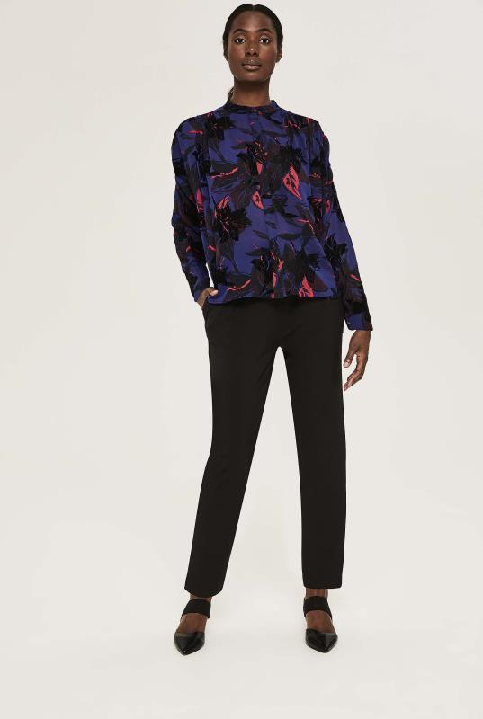 Y.A.S Purple Floral Mayllis Shirt