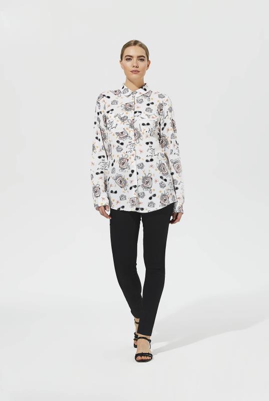 Karl Lagerfeld Paris Bottle Print Shirt