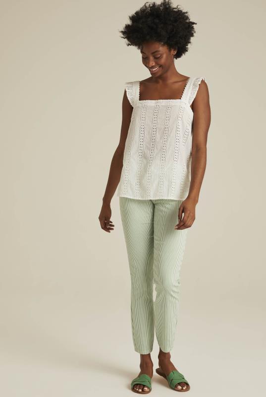 White Cotton Broderie Cami
