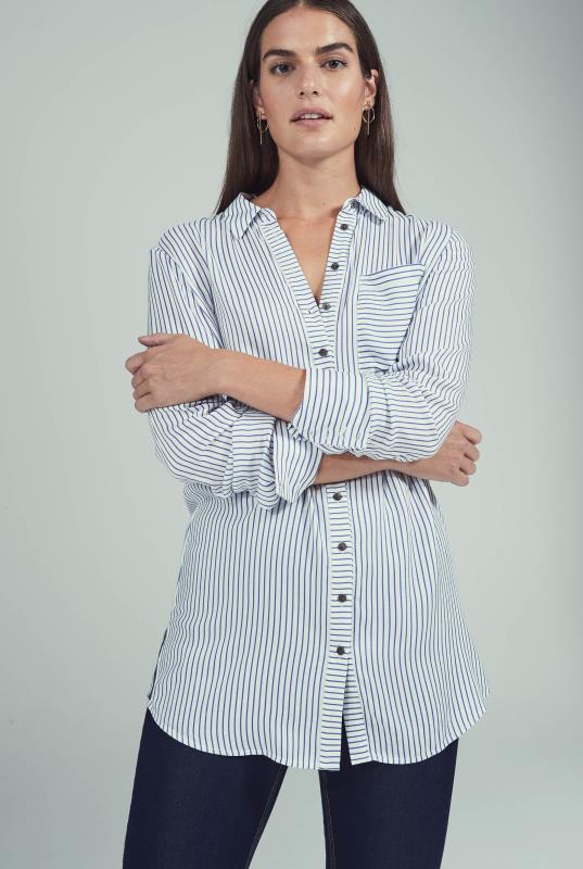 Tall Shirts & Blouses Longline Stripe Shirt