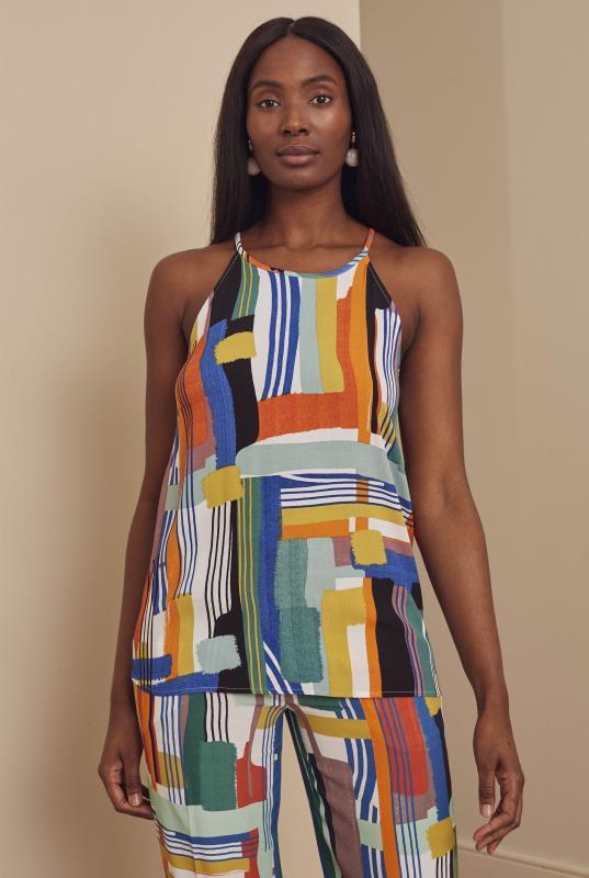 Tall Vests & Camisoles Multi Printed Halterneck Top