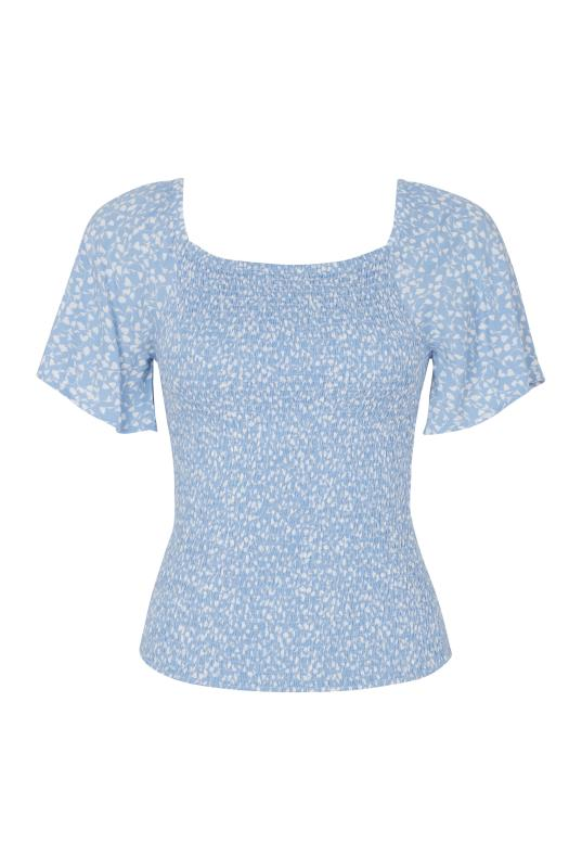 Floral Print Shirred Body Top
