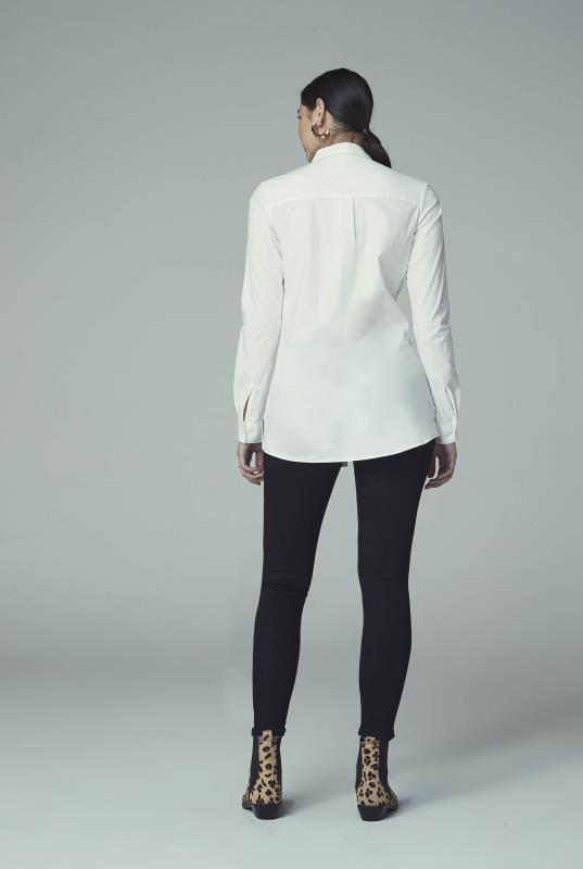 Longline Shirt With Contrast Placket