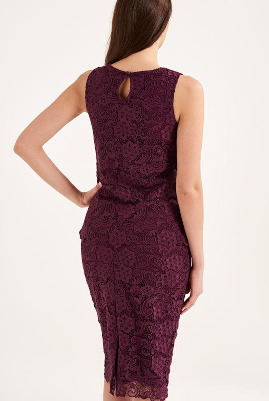 Burgundy Premium Lace Sleeveless Top