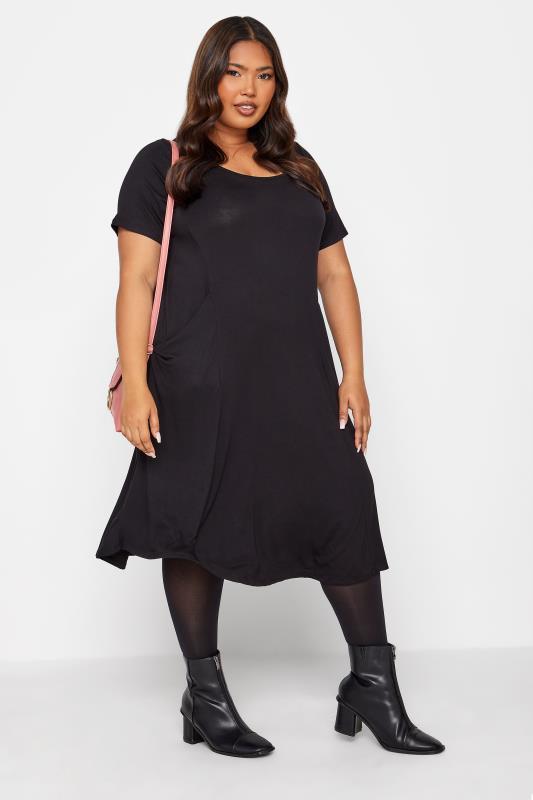 Black Drape Pocket Midi Dress_B.jpg