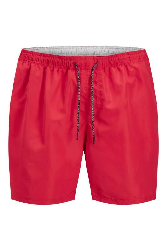 Men's  JACK & JONES Red Bali Swimshorts