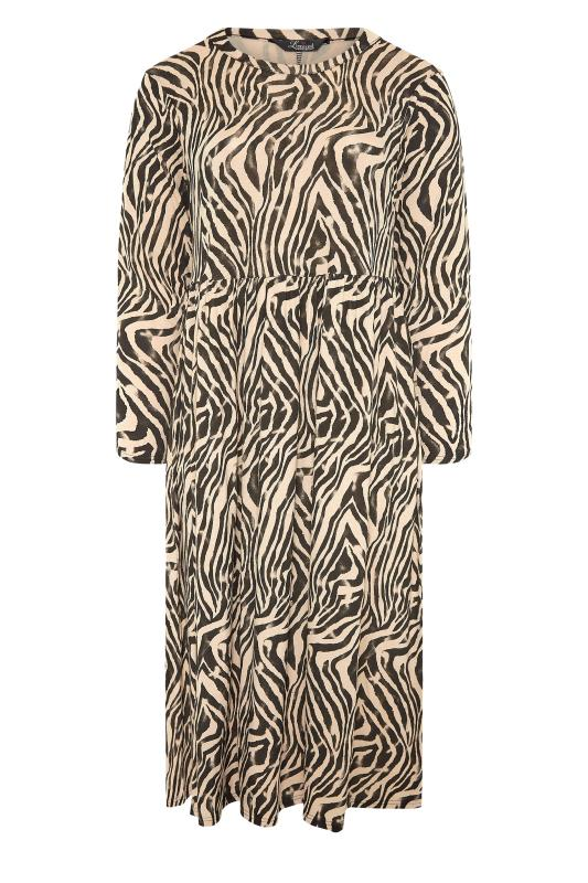 LIMITED COLLECTION Beige Zebra Print Smock Midaxi Dress_F.jpg