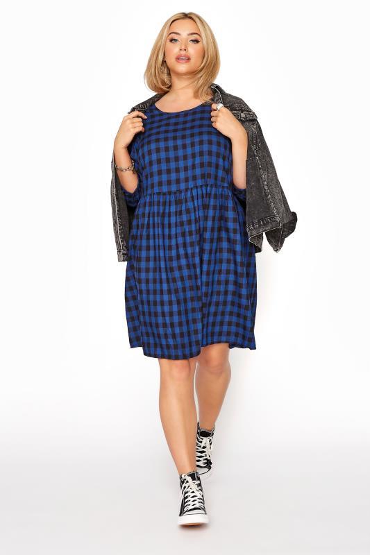 Cobalt Blue Gingham Peplum Dress_B.jpg
