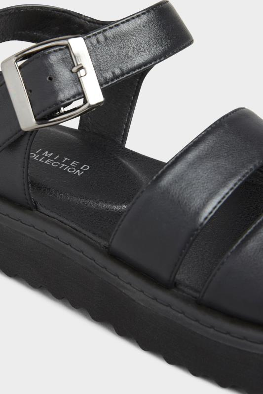 LIMITED COLLECTION Black Chunky Strap Sandals In Extra Wide Fit_D.jpg