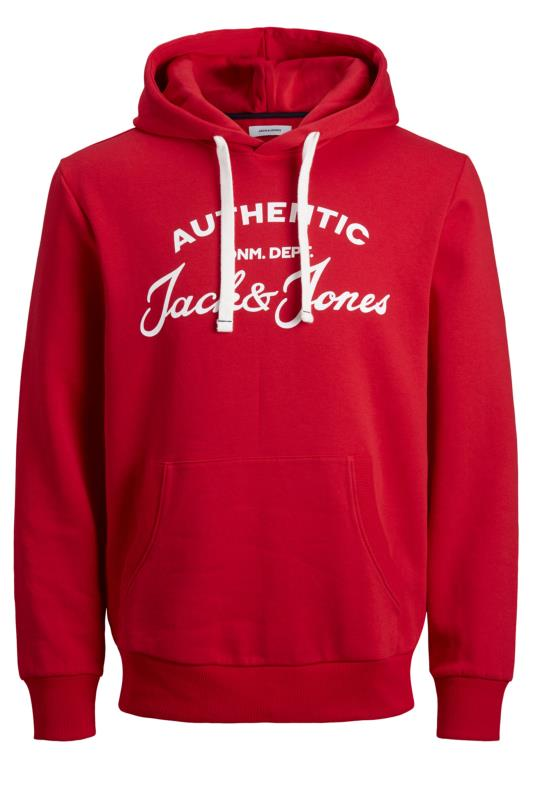 JACK & JONES Red Hero Logo Hoodie