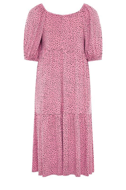 BUMP IT UP MATERNITY Pink Square Neck Midaxi Dress_BK.jpg
