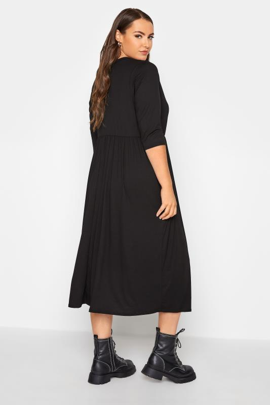 LIMITED COLLECTION Black Button Midaxi Dress_C.jpg