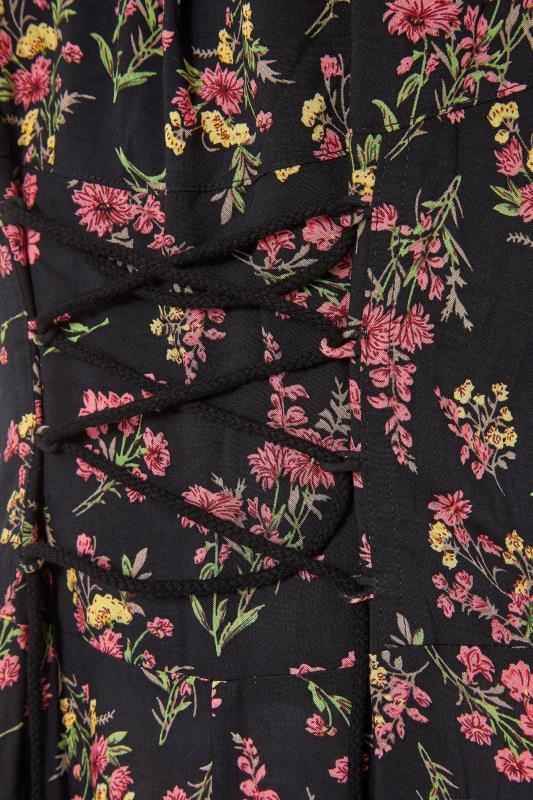 LTS Black Floral Puff Sleeve Corset Maxi Dress_s.jpg