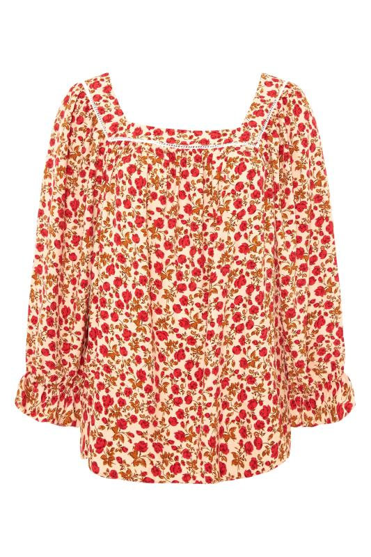 THE LIMITED EDIT Natural Square Neck Blossom Blouse_F.jpg