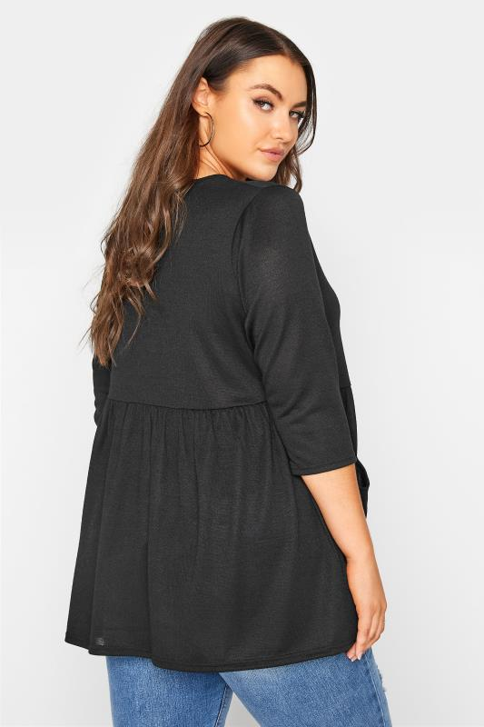 Black Mock Button Knitted Top_C.jpg