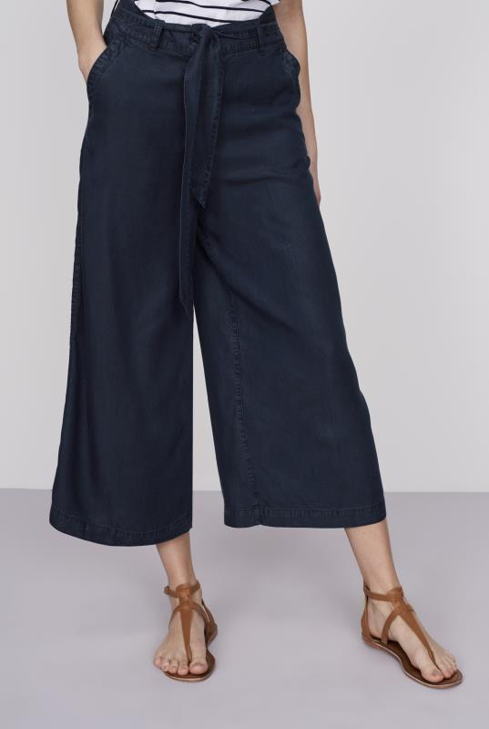 Tall Culottes Belted Tencel Culotte