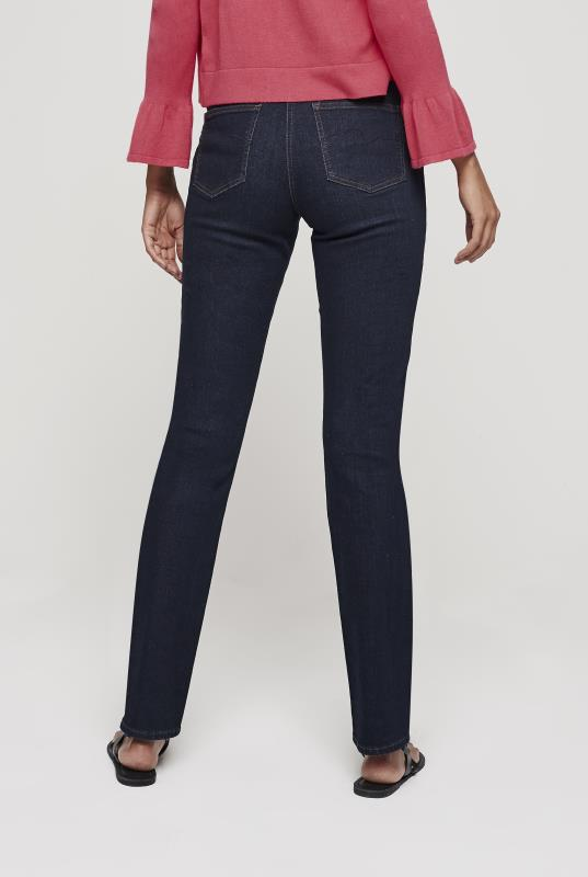 Dark Indigo High Rise Straight Sculpt Jeans