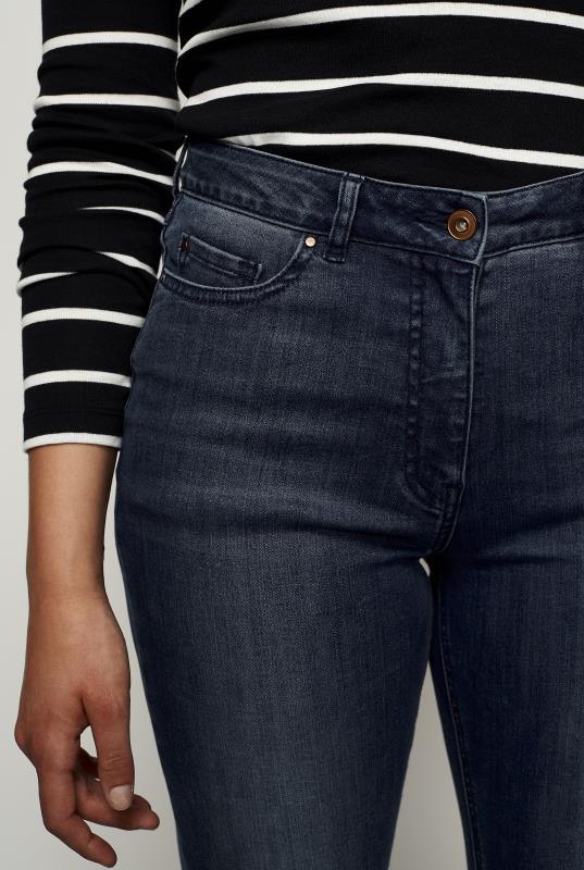 Let Down Flare Hem Jeans