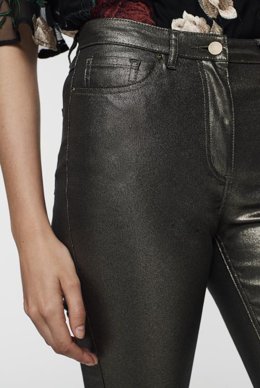 Metallic Slim Leg Jean