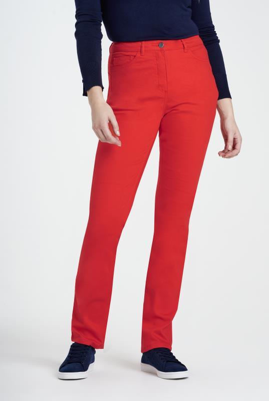 Red Shaper Straight Cut Jean