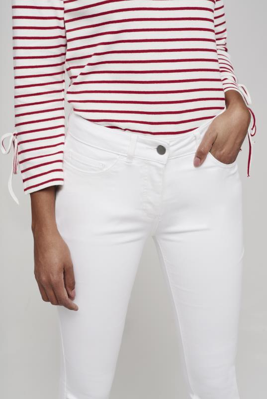 White Low Rise Shaper Skinny Jean