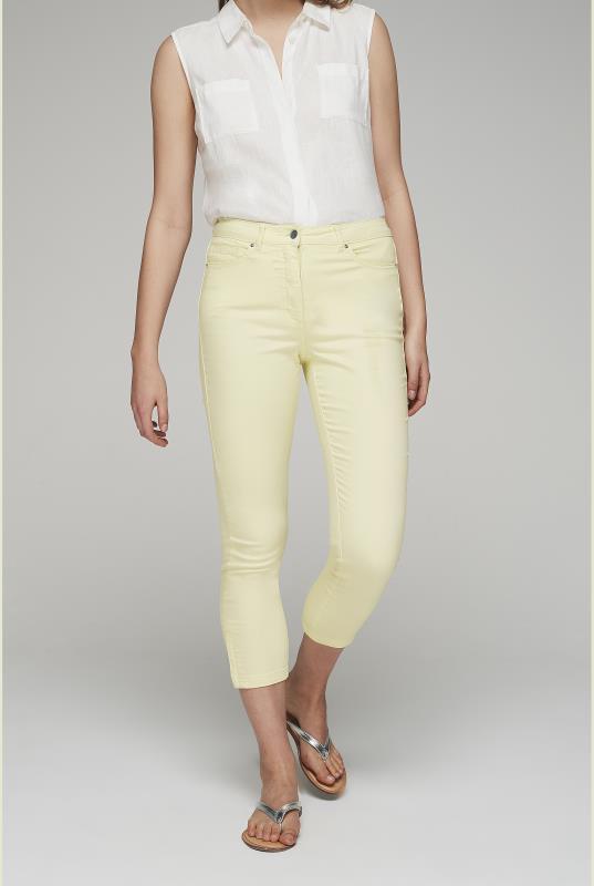 Tall Jeans Lemon Yellow Zip Hem Crop Jean