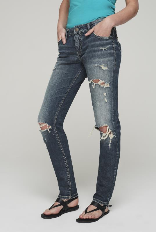 Silver Kenni Girlfriend Ripped Jeans
