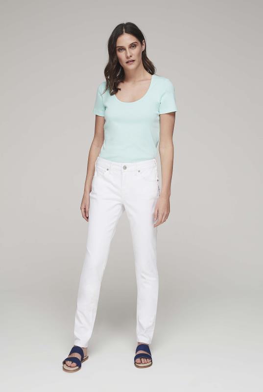 SILVER White Avery Slim Leg Jeans