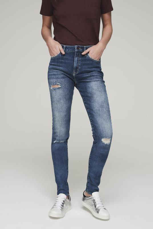 Tall Jeans Blue Mavi Lucy Skinny Ripped Jeans