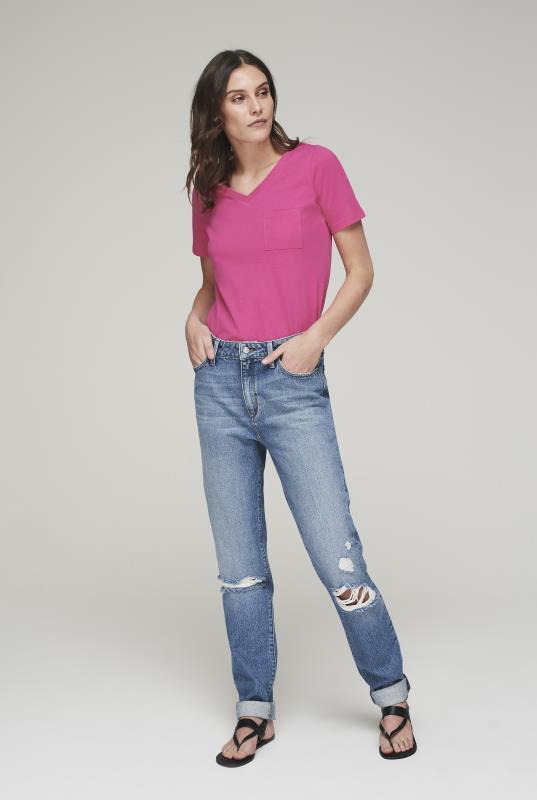 Blue Mavi Lea Slim Boyfriend Ripped Vintage Jeans